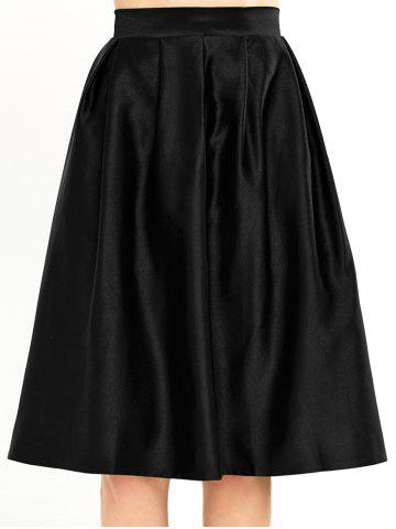 Fancy A Line Pleated Knee Length Skirt