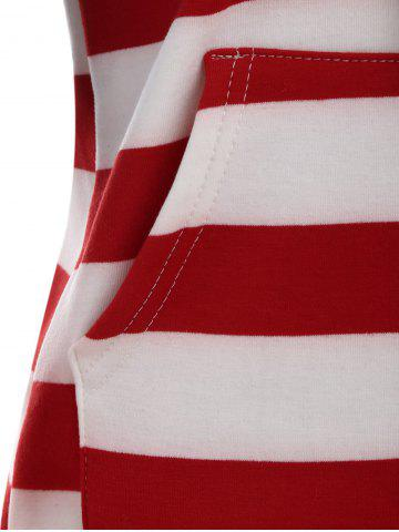 Latest American Flag Print Drawstring Hoodie - XL RED Mobile