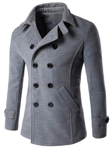 Hot Double Breasted Woolen Blends Coat