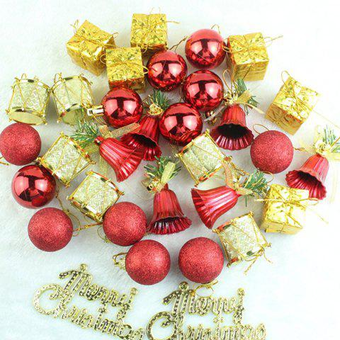 Latest Christmas Supplies Xmas Tree Party Decor Pendants Set GOLD AND RED