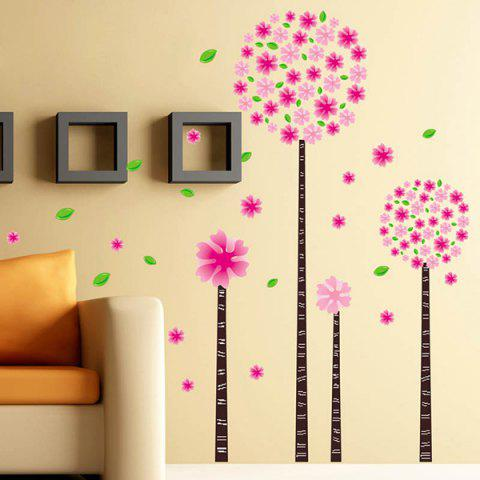 Outfits DIY Flower Removable Decorative Wall Stickers PINK