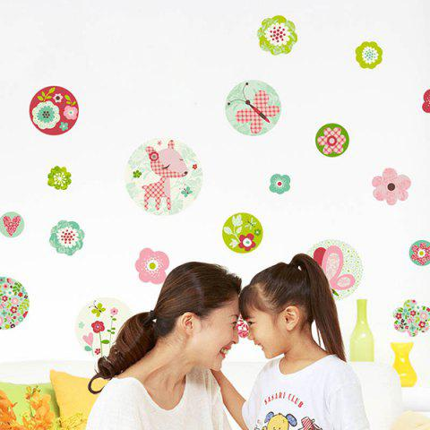 Fancy DIY Art Floral Removable Background Wall Stickers