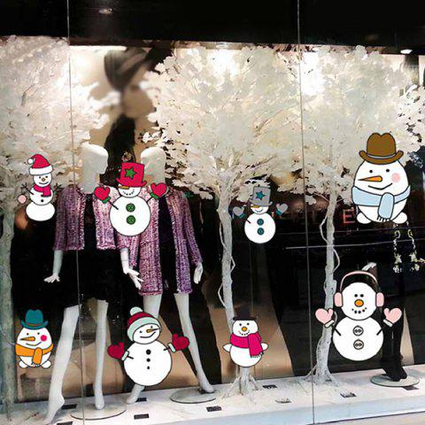 Outfit Merry Christmas DIY Snowman Removable Wall Stickers COLORMIX