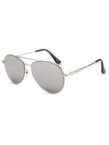 Best Crossbar Anti UV Metal Pilot Mirrored Sunglasses