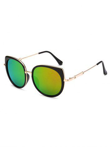 Fancy Polarized Cat Eye Mirrored Affordable Sunglasses LIGHT GREEN