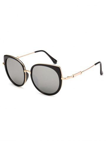 Unique Polarized Cat Eye Mirrored Affordable Sunglasses SILVER