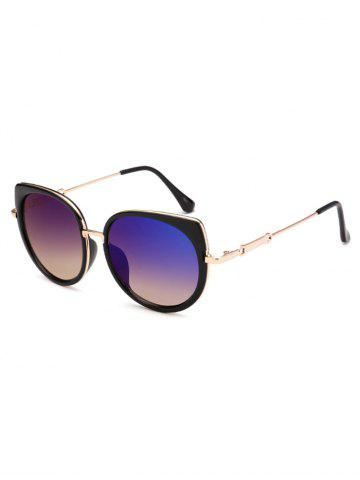 Best Polarized Cat Eye Mirrored Affordable Sunglasses - BLUE  Mobile