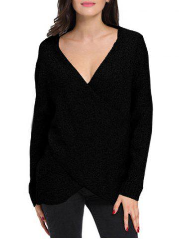 Outfit Deep V Crossover Wrap Sweater