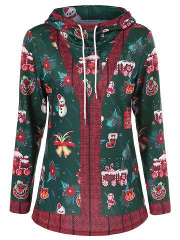 Best Pullover Hoodie With Christmas Patterned COLORMIX M
