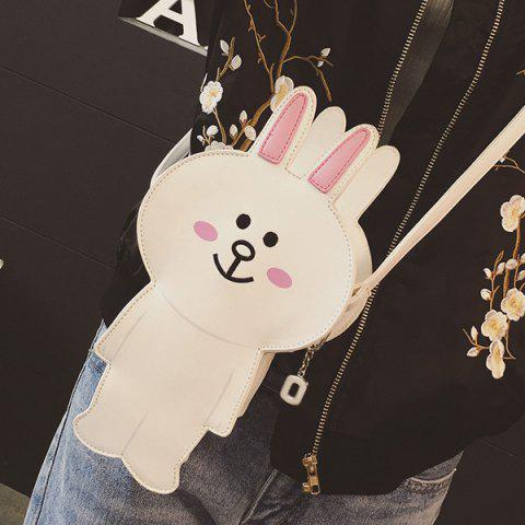 Shop Zipper Bunny Cartoon Shoulder Bag