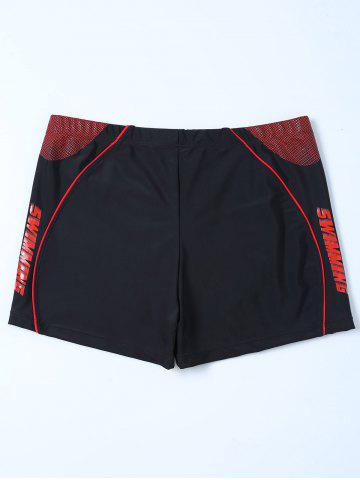 Outfit Panel Swimsuit Bottom Boy Shorts - 4XL BLACK Mobile
