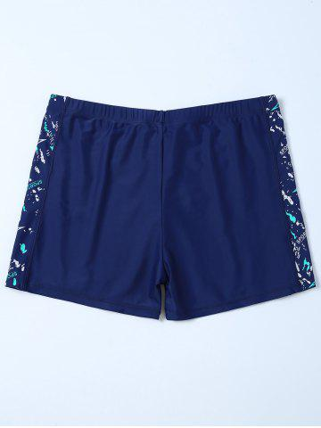 Outfit Sports Graphic Zip Printed Swim Bottom Boyshorts - 4XL DEEP BLUE Mobile