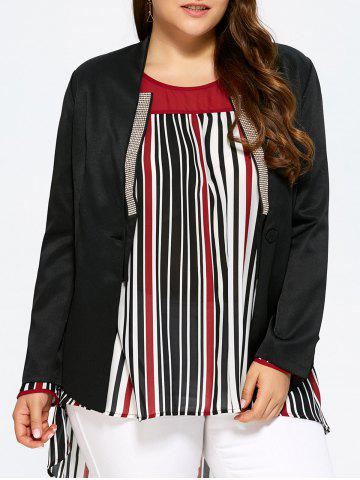 Latest Plus Size Open Front Beaded Blazer