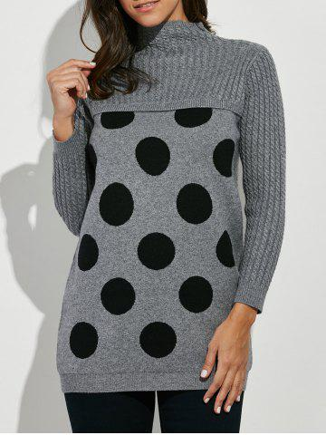 Store Polka Dot Mock Neck Sweater
