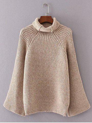 Shop Turtleneck Bell Sleeves Ribbed Sweater