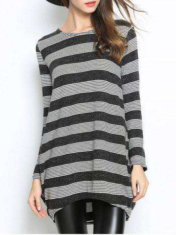 Discount Casual Striped Oversized Knitwear