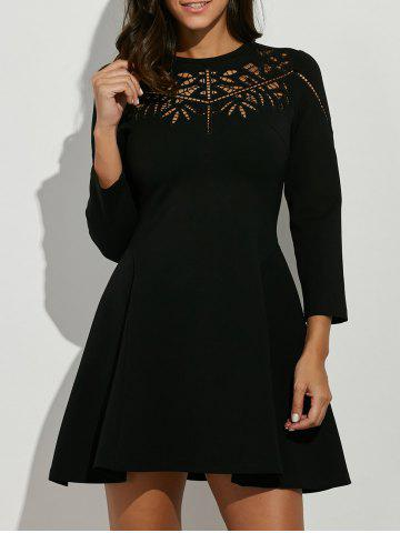 Buy Crochet Openwork Swing Dress