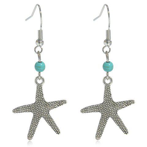 Shop Artificial Turquoise Starfish Earrings SILVER