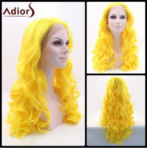 Fancy Adiors Long Fluffy Wavy Lace Front Synthetic Wig