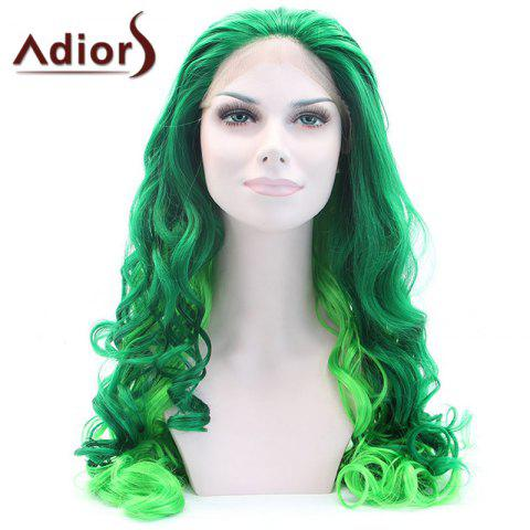 Shops Adiors Long Shaggy Wavy Colormix Lace Front Synthetic Wig