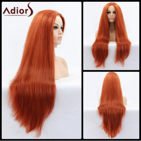 Online Adiors Ultra Long Middle Parting Natural Straight Lace Front Synthetic Wig