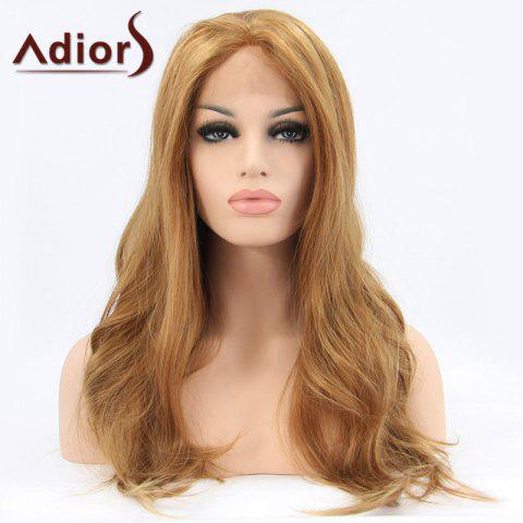 Latest Adiors Long Middle Parting Fluffy Wavy Lace Front Synthetic Wig