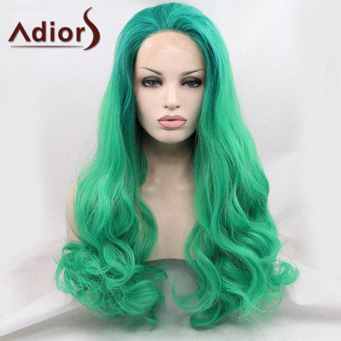 Best Adiors Long Towheaded Wavy Lace Front Synthetic Wig