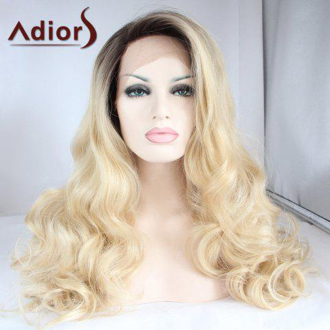 Sale Adiors Long Color Mixed Side Parting Wavy Lace Front Synthetic Wig