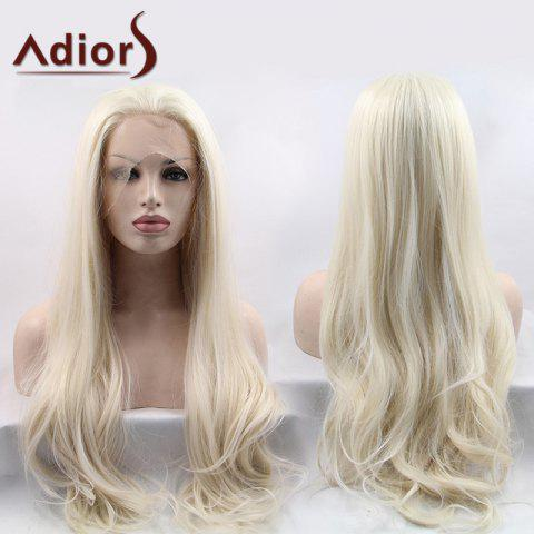Discount Adiors Ultra Long Shaggy Slightly Curled Lace Front Synthetic Wig