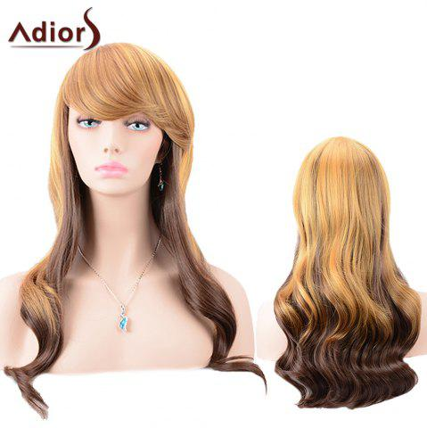 Outfits Adiors Oblique Bang Color Mixed Body Wave Long Synthetic Wig