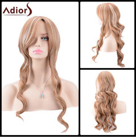 Hot Adiors Long Side Parting Highlight Body Wave Synthetic Wig
