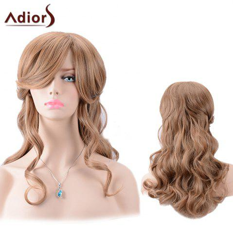 Best Adiors Long Side Bang Colormix Shaggy Body Wave Synthetic Wig