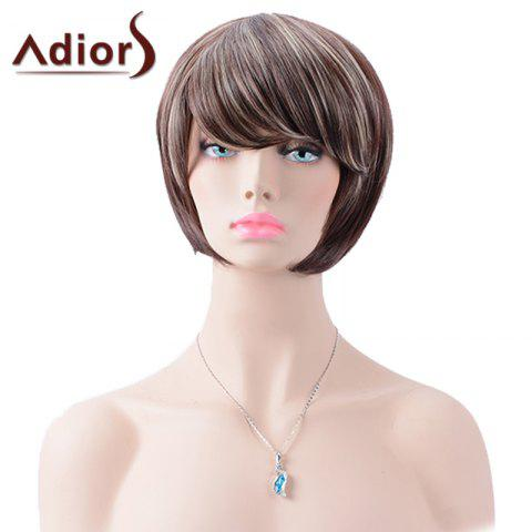 Shops Adiors Short Inclined Bang Highlight Straight Bob Synthetic Wig
