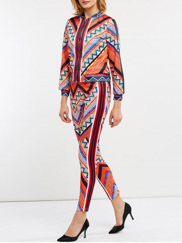 Outfit Chevron Zip Up Jacket and Ninth Pants