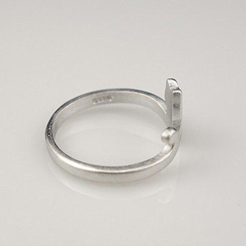 Best Cat Shape Cuff Ring - SILVER  Mobile