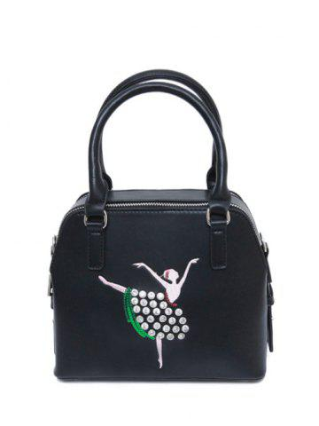 Hot Zippers Sequined Rhinestones Tote Bag