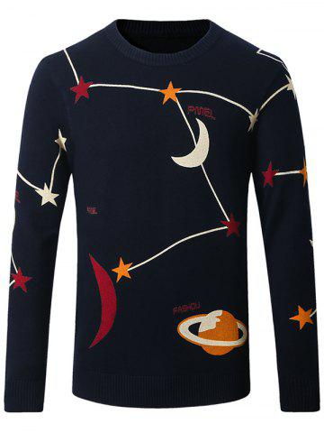 Shops Thicken Star and Moon Pattern Sweater