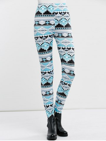Outfit High Waist Stretchy Geometric Print Leggings - XL CLOUDY Mobile