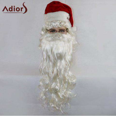 Discount Adiors Party Christmas Santa Claus Cosplay Synthetic Beard and Wig Set - WHITE  Mobile