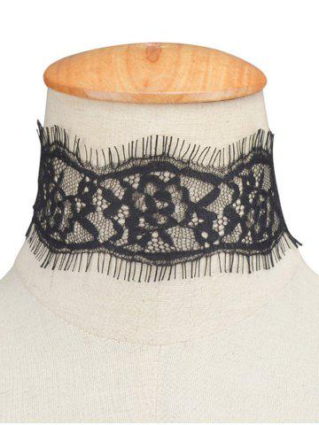 Outfit Hollowed Eyelash Lace Choker Necklace