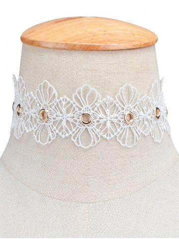 Outfits Openwork Lace Floral Choker Necklace WHITE