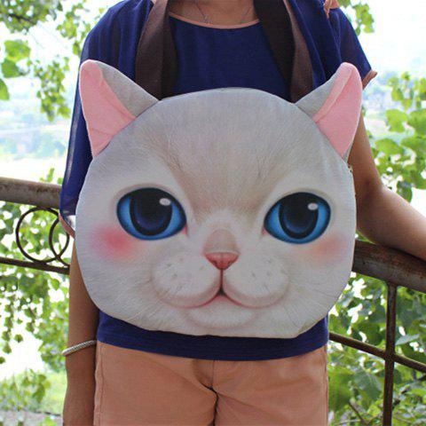 Best Cat Face Shaped 3D Print Shoulder Bag