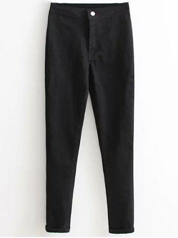 Outfit Skinny High Waist Tapered Jeans BLACK L