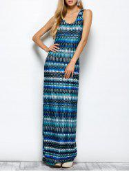 Maya Geometry Printed Tank Maxi Dress -