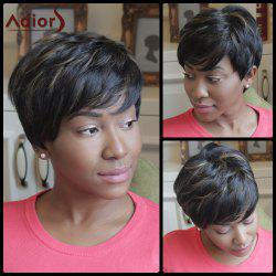Adiors Shaggy Short Highlight Side Bang Synthetic Wig