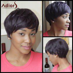 Adiors Short Mixed Color Straight Heat Resistant Fiber Wig