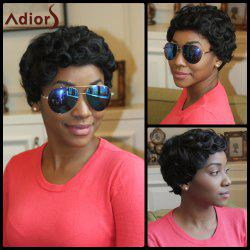 Adiors Pixie Cut Short Fluffy Curly Synthetic Wig -