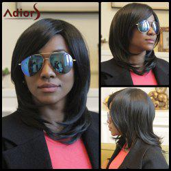 Adiors Medium Straight Tail Adduction Side Bang Synthetic Wig