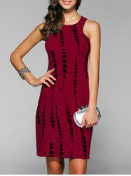 Sleeveless Cut Out Short Formal Party Sheath Dress - DARK RED
