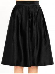 A Line Pleated Knee Length Skirt -